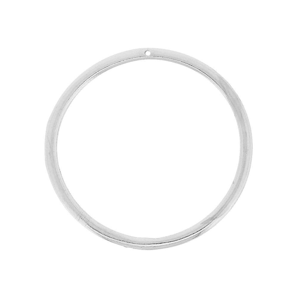 Pingente Argola de Metal - 50mm  - Nathalia Bijoux®
