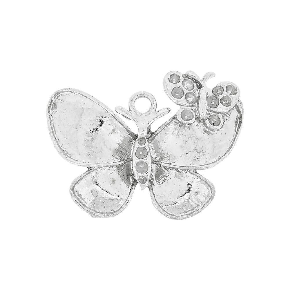 Pingente Borboleta de Metal - 28mm  - Nathalia Bijoux®
