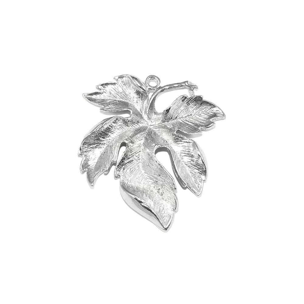 Pingente Folha de Metal - 48mm  - Nathalia Bijoux®