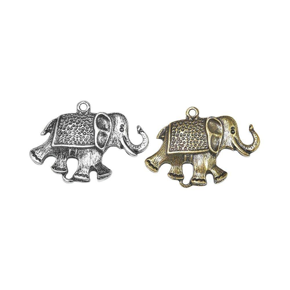Pingente Elefante de Metal - 42mm  - Nathalia Bijoux®