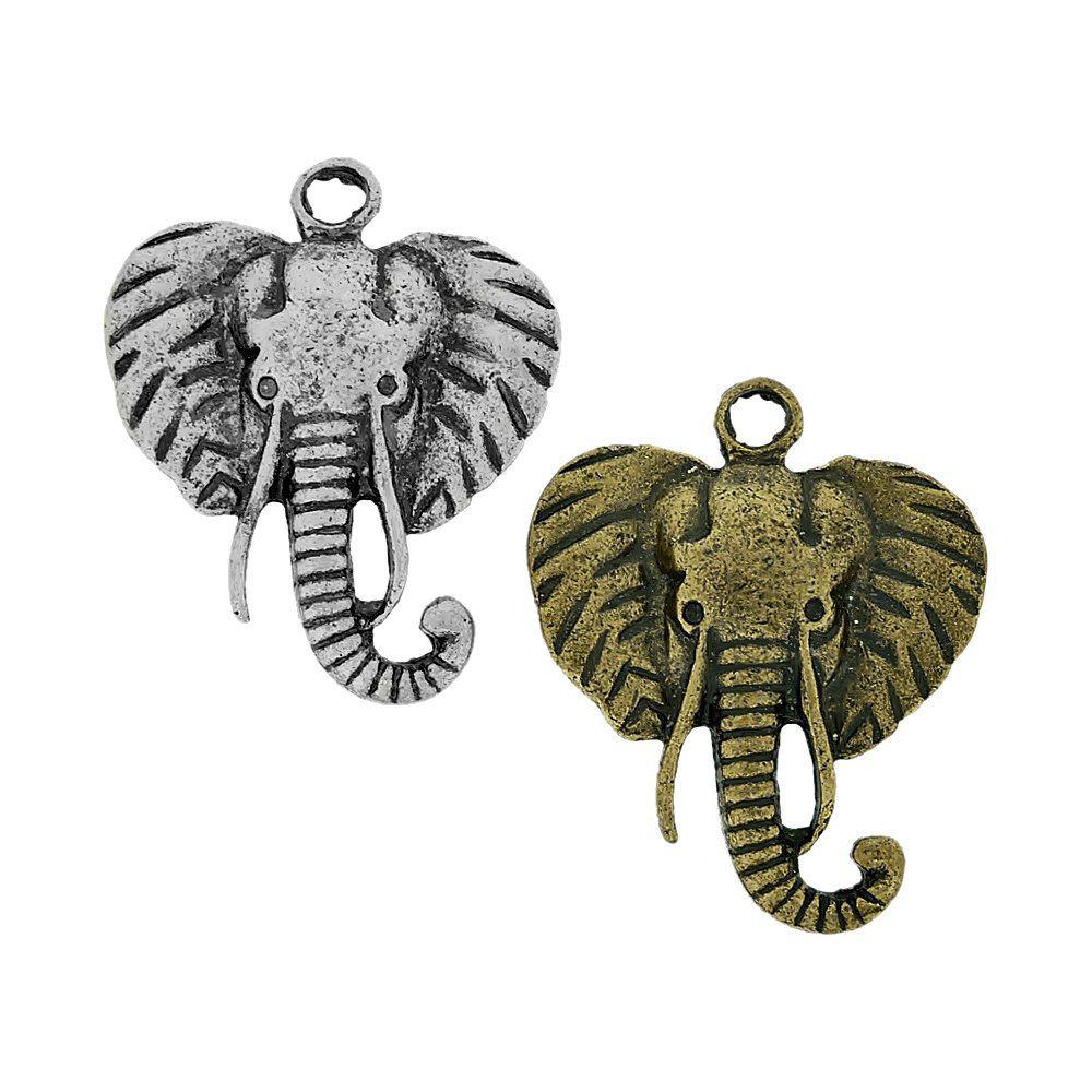 Pingente Elefante de Metal - 49mm  - Nathalia Bijoux®