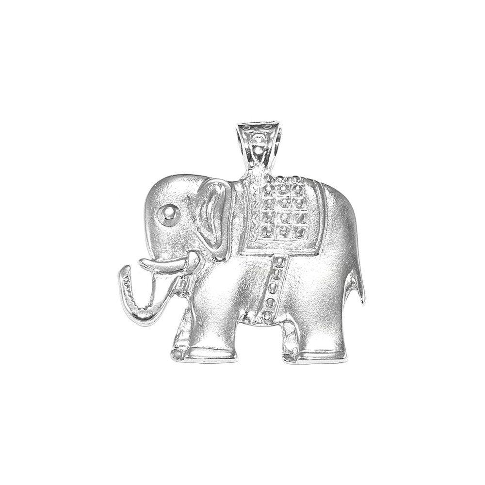 Pingente Elefante de Metal - 47mm  - Nathalia Bijoux®