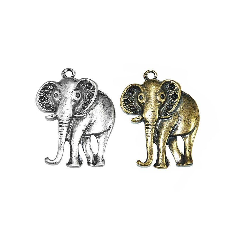 Pingente Elefante de Metal - 48mm  - Nathalia Bijoux®