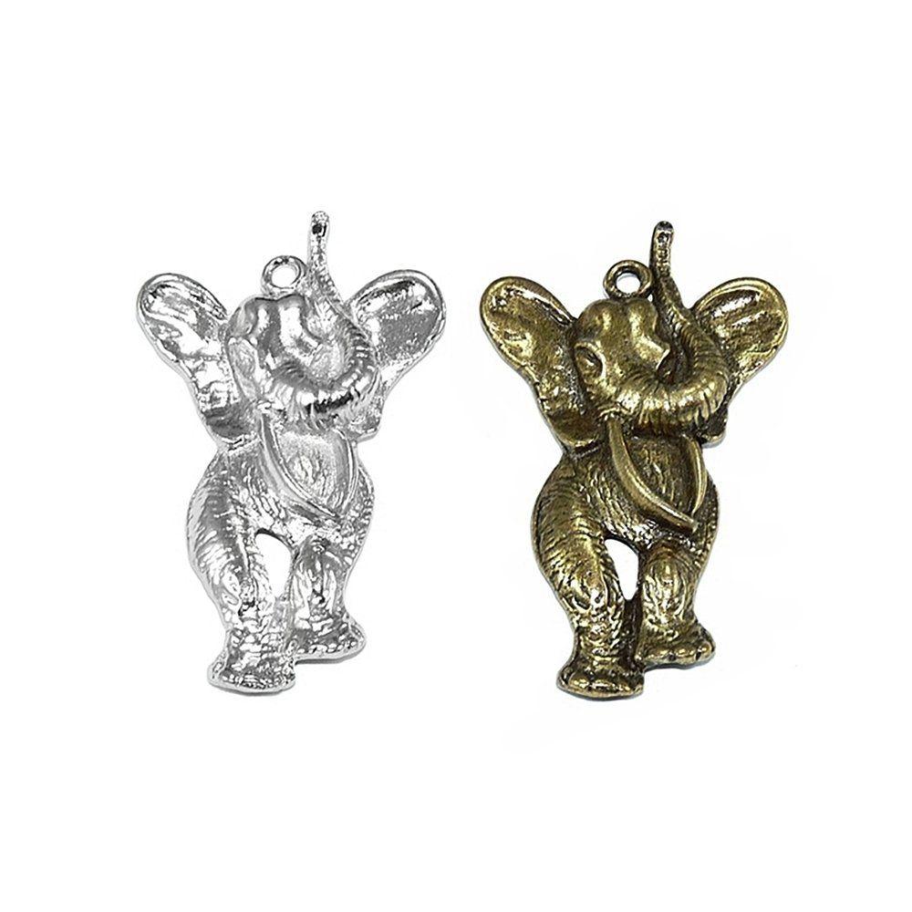 Pingente Elefante de Metal - 50mm  - Nathalia Bijoux®