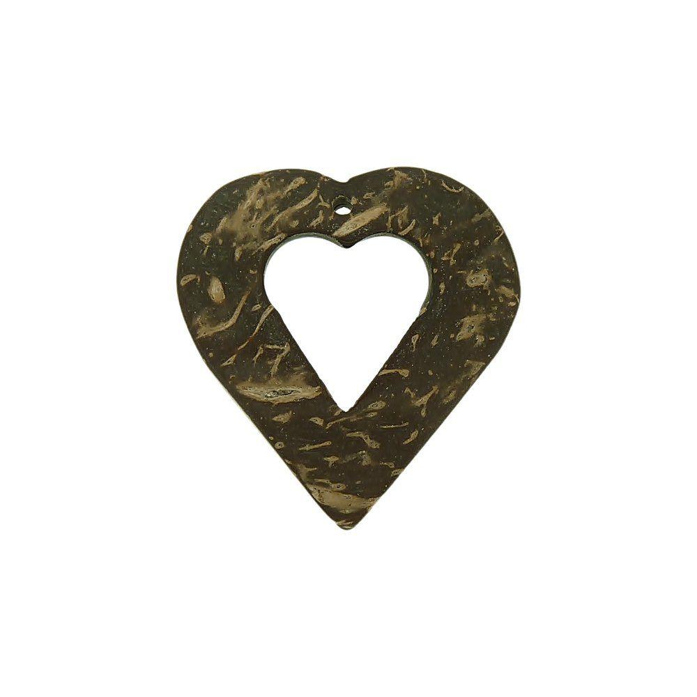 Pingente Coração de Coco - 40mm  - Nathalia Bijoux®