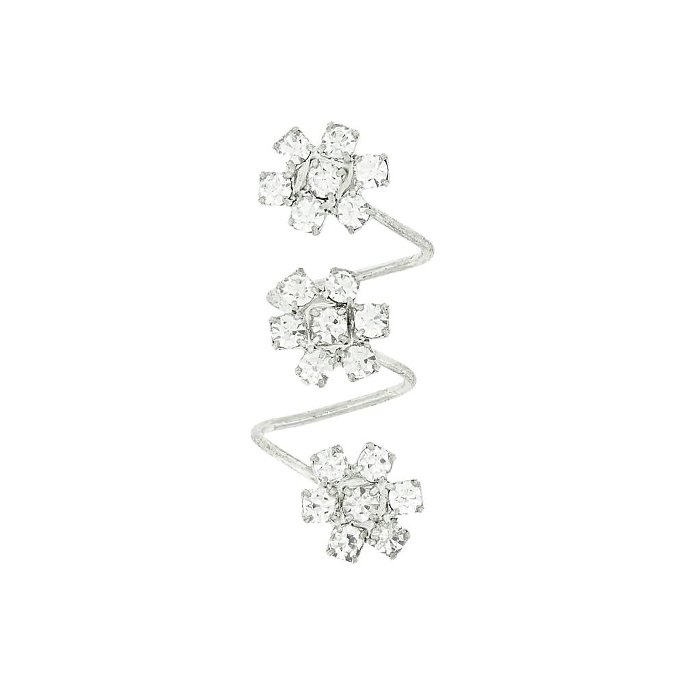 Piercing Espiral Flor para Chinelo com Strass - 39mm  - Nathalia Bijoux®