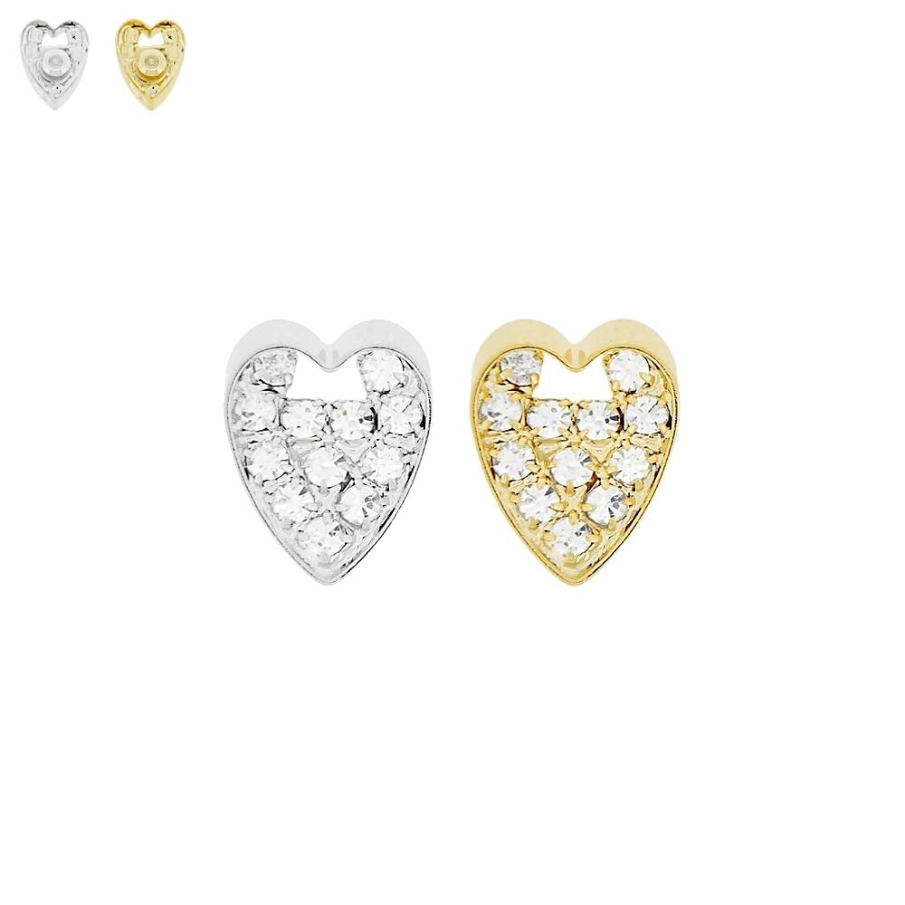 Piercing Coração para Chinelo com Strass - 14mm  - Nathalia Bijoux®