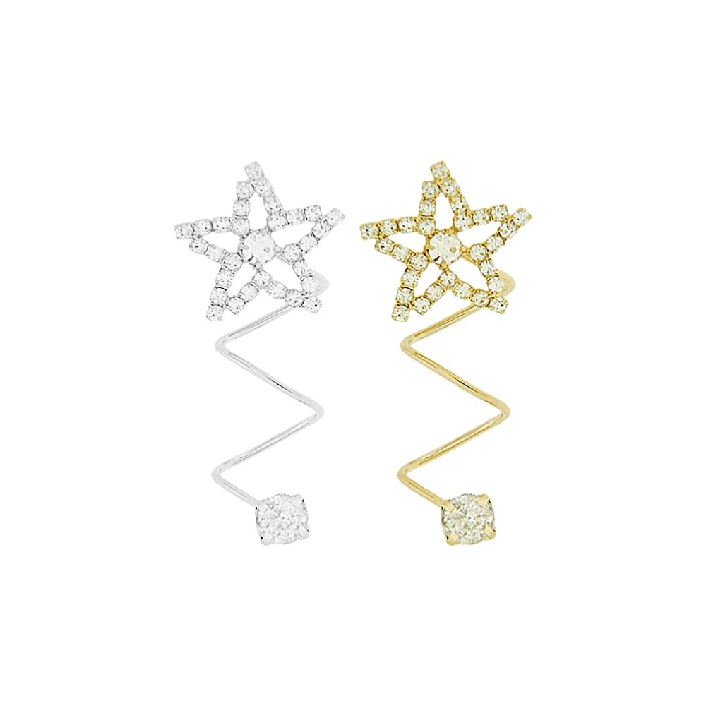 Piercing Espiral Estrela para Chinelo com Strass - 39mm  - Nathalia Bijoux®
