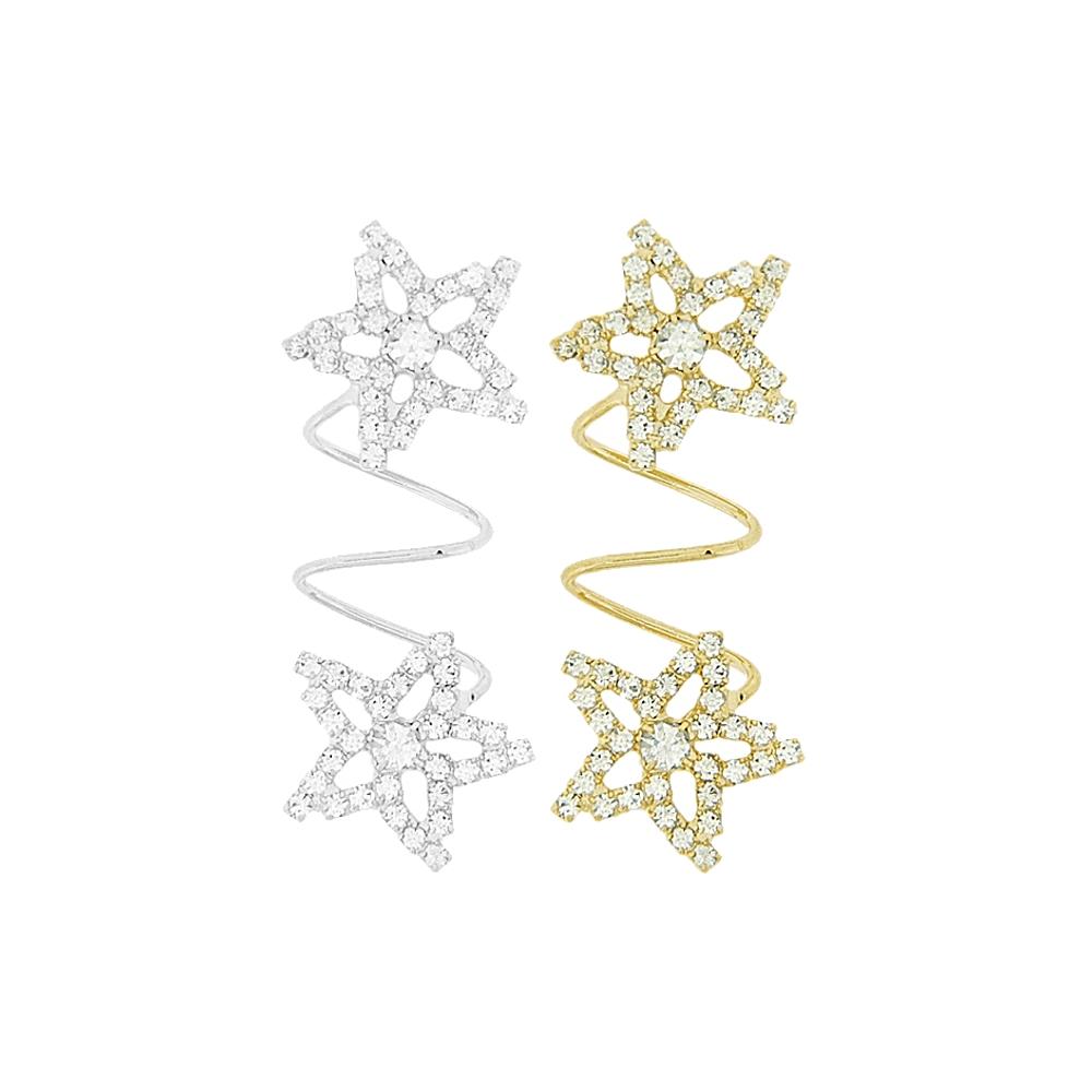 Piercing Espiral Estrela para Chinelo com Strass - 54mm  - Nathalia Bijoux®