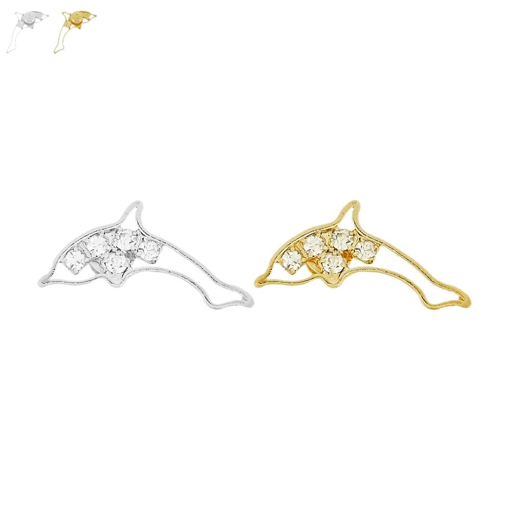 Piercing Golfinho para Chinelo com Strass - 20mm  - Nathalia Bijoux®
