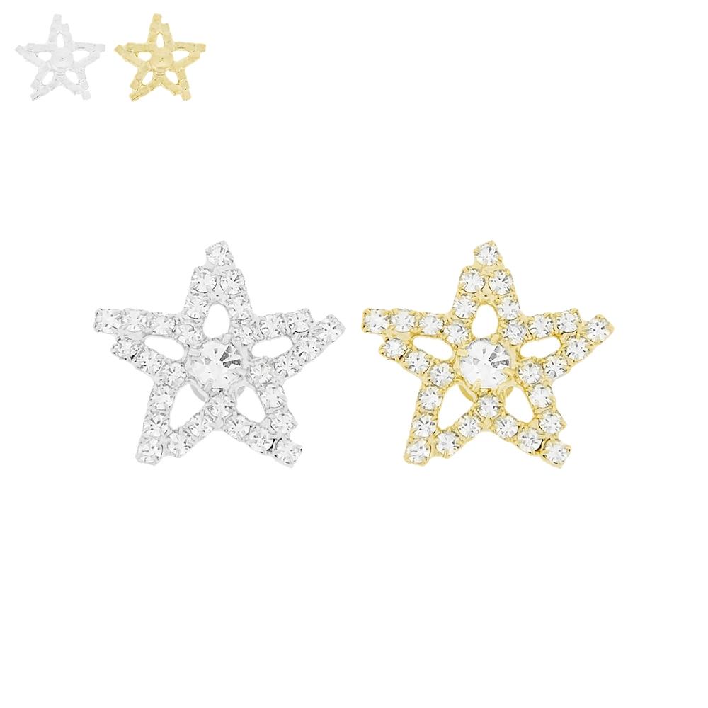 Piercing Estrela para Chinelo com Strass - 20mm  - Nathalia Bijoux®