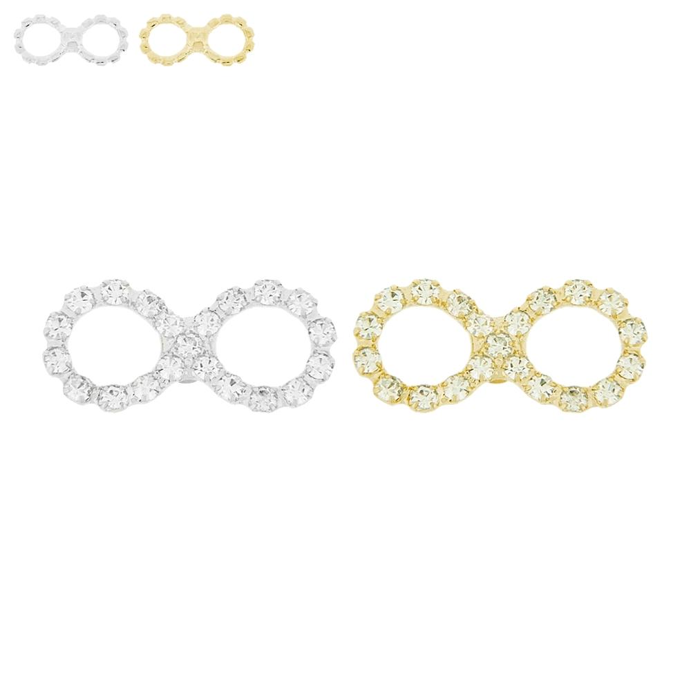 Piercing Símbolo do Infinito para Chinelo com Strass - 26mm  - Nathalia Bijoux®
