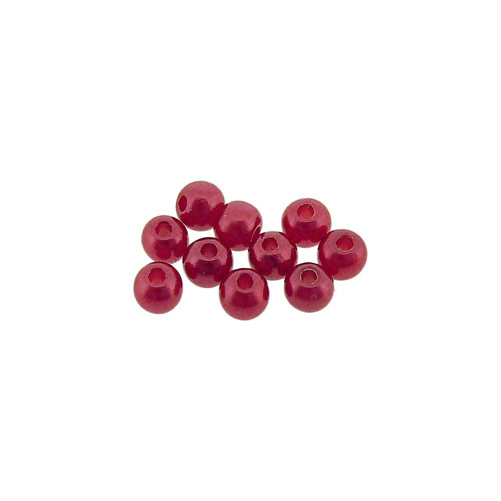 Pérola de ABS - Vermelho - 4mm - 25g  - Nathalia Bijoux®