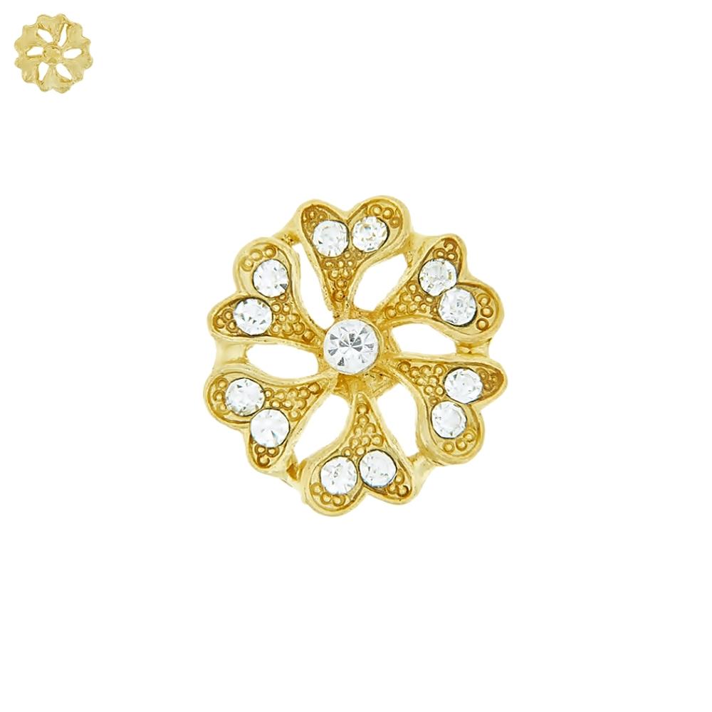 Piercing Flor para Chinelo com Strass - 20mm  - Nathalia Bijoux®