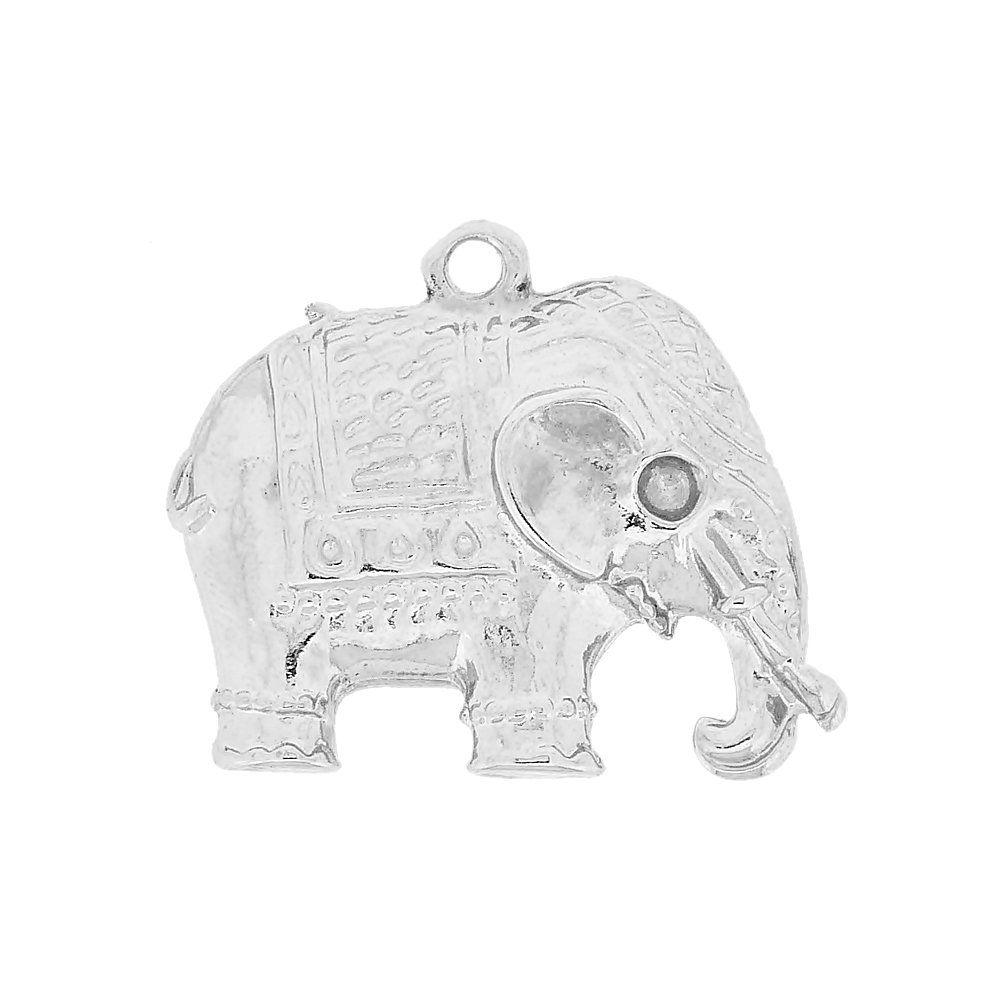 Pingente Elefante de Metal - 29mm  - Nathalia Bijoux®