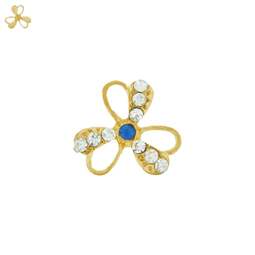 Piercing Flor para Chinelo com Strass - 22mm  - Nathalia Bijoux®