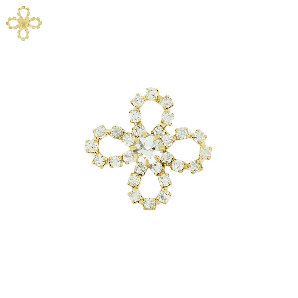 Piercing Flor para Chinelo com Strass - 24mm  - Nathalia Bijoux®