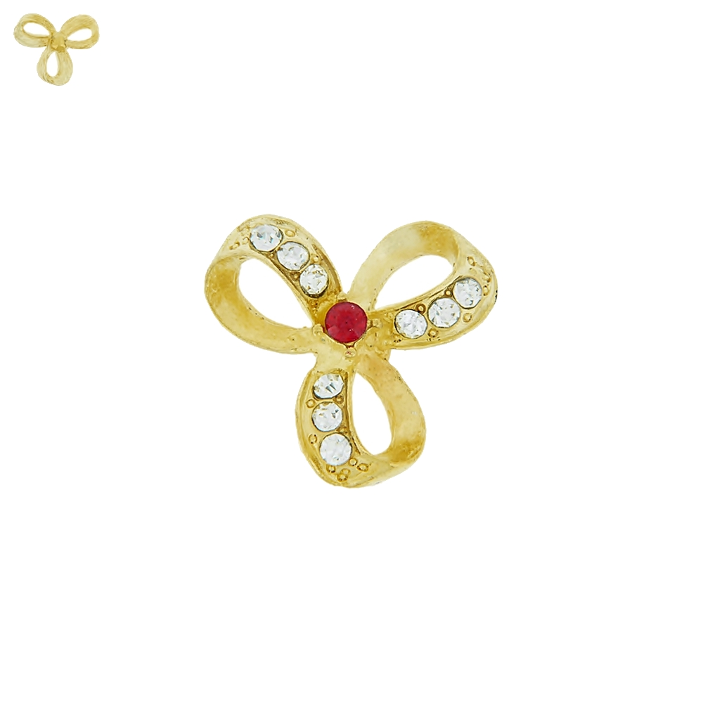 Piercing Flor para Chinelo com Strass - 23mm  - Nathalia Bijoux®