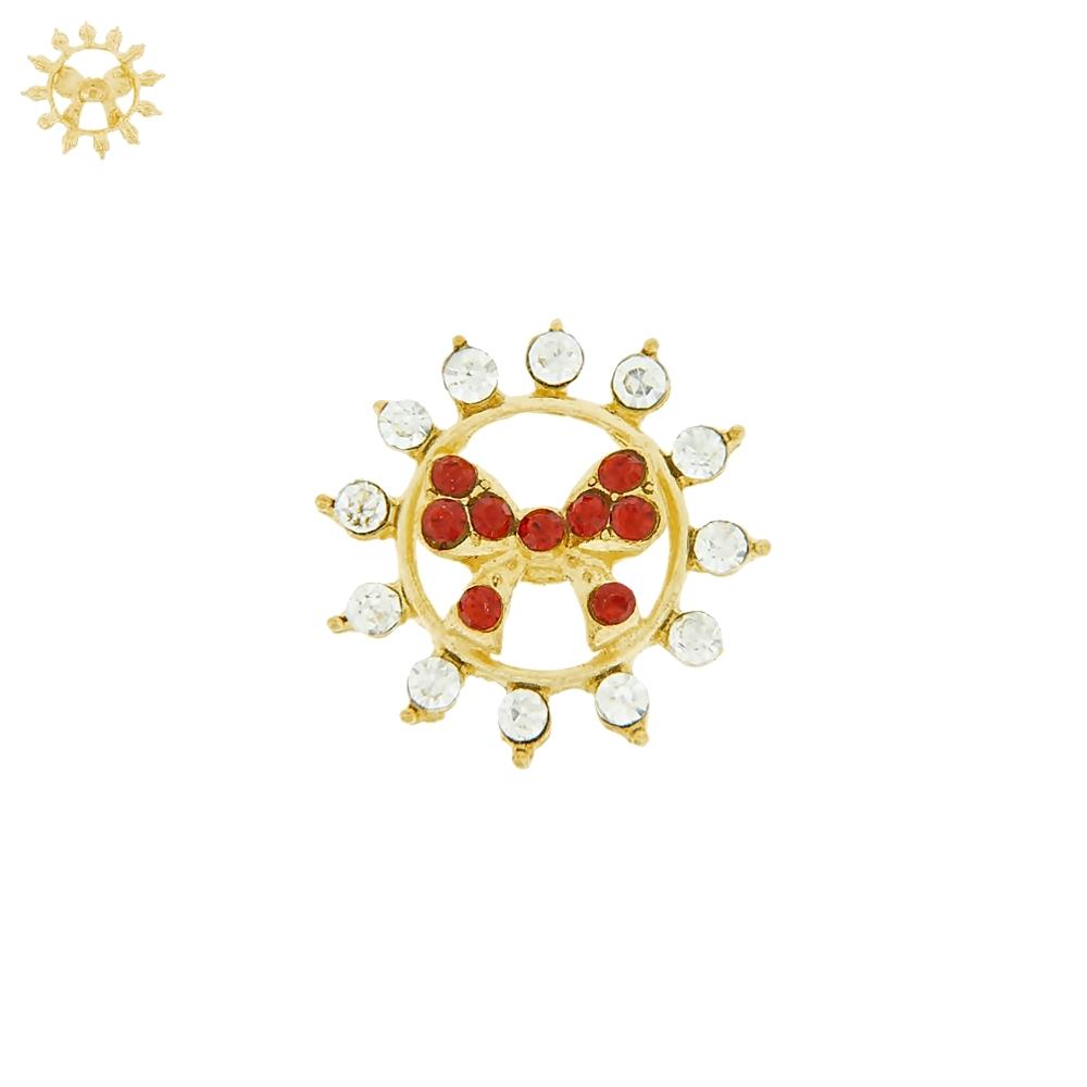 Piercing Flor com Lacinho para Chinelo com Strass - 24mm  - Nathalia Bijoux®