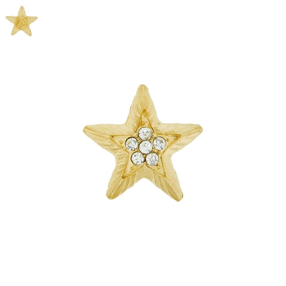 Piercing Estrela para Chinelo com Strass - 24mm  - Nathalia Bijoux®