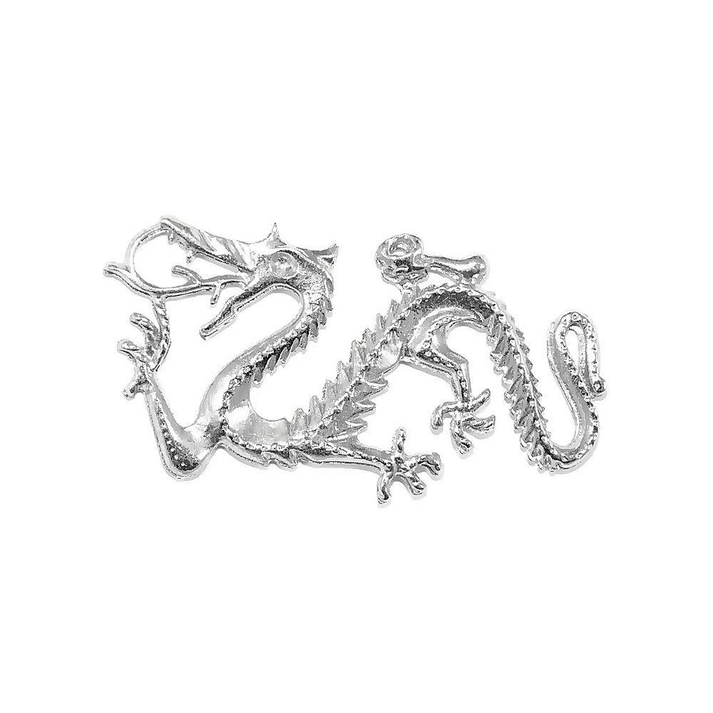 Pingente Dragão de Metal - 25mm  - Nathalia Bijoux®