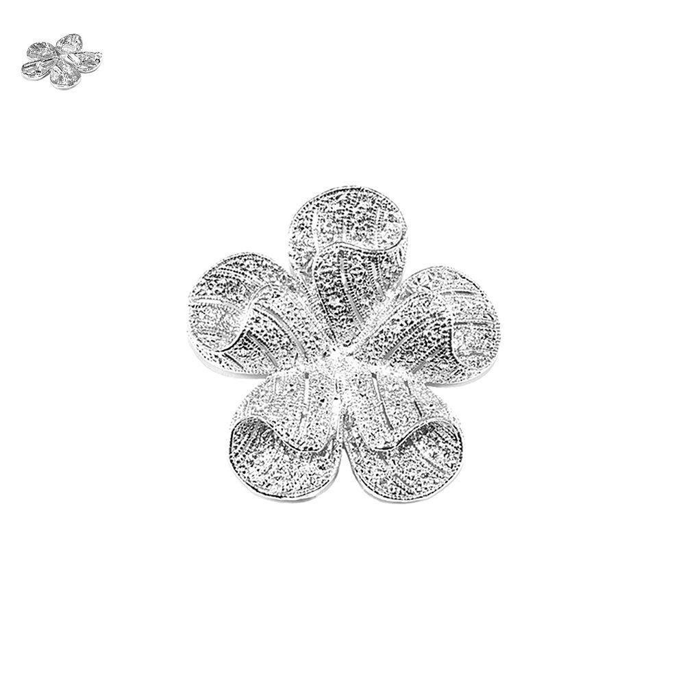 Pingente Flor de Metal - 55mm  - Nathalia Bijoux®