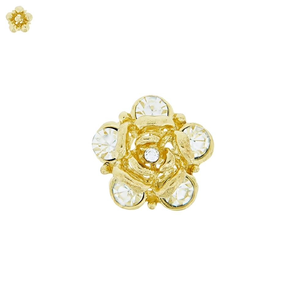 Piercing Flor para Chinelo com Strass - 16mm  - Nathalia Bijoux®