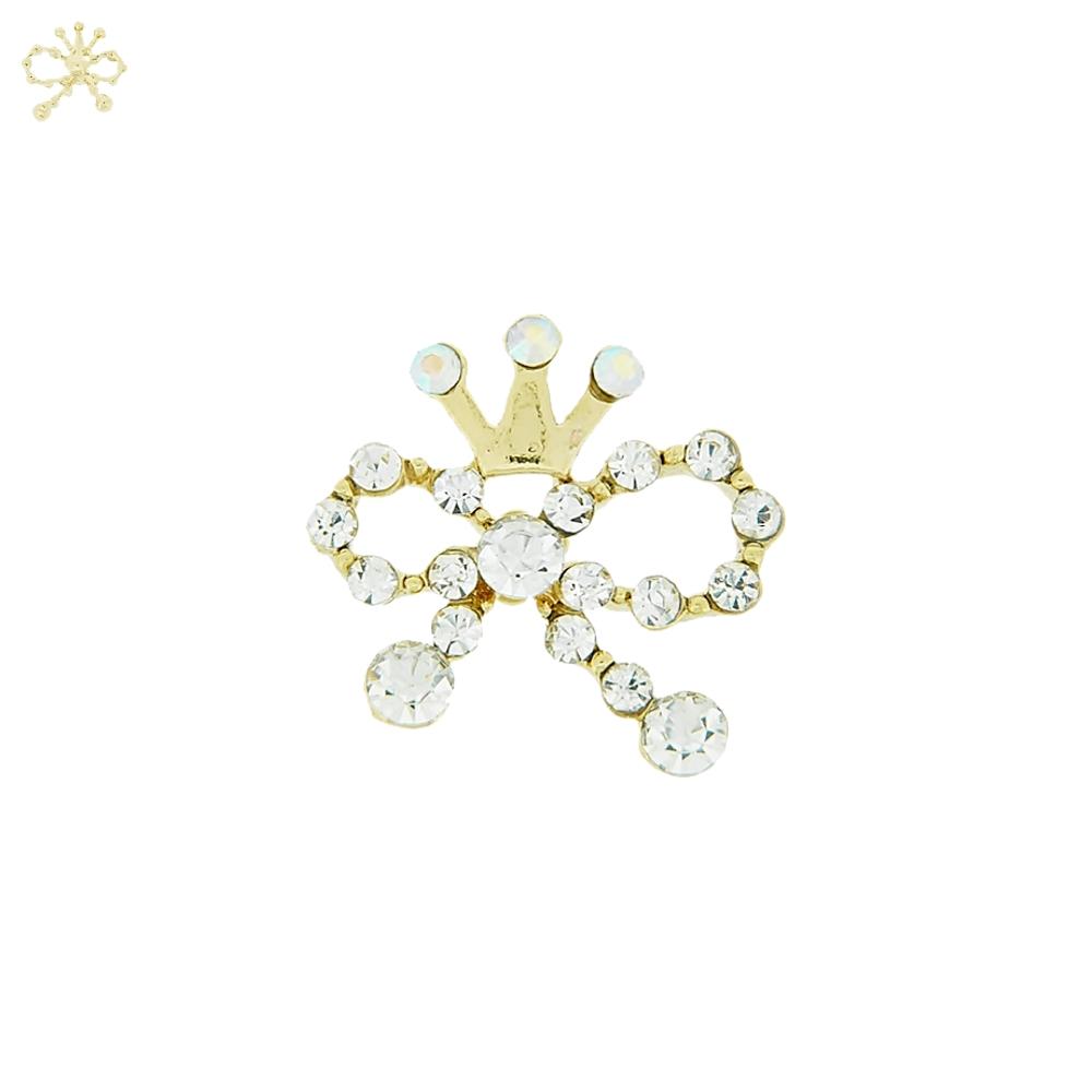 Piercing Lacinho com Coroa para Chinelo com Strass - 19mm  - Nathalia Bijoux®