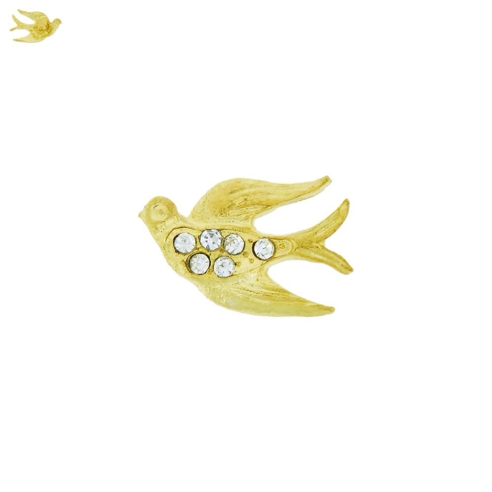 Piercing Pássaro para Chinelo com Strass - 15mm  - Nathalia Bijoux®
