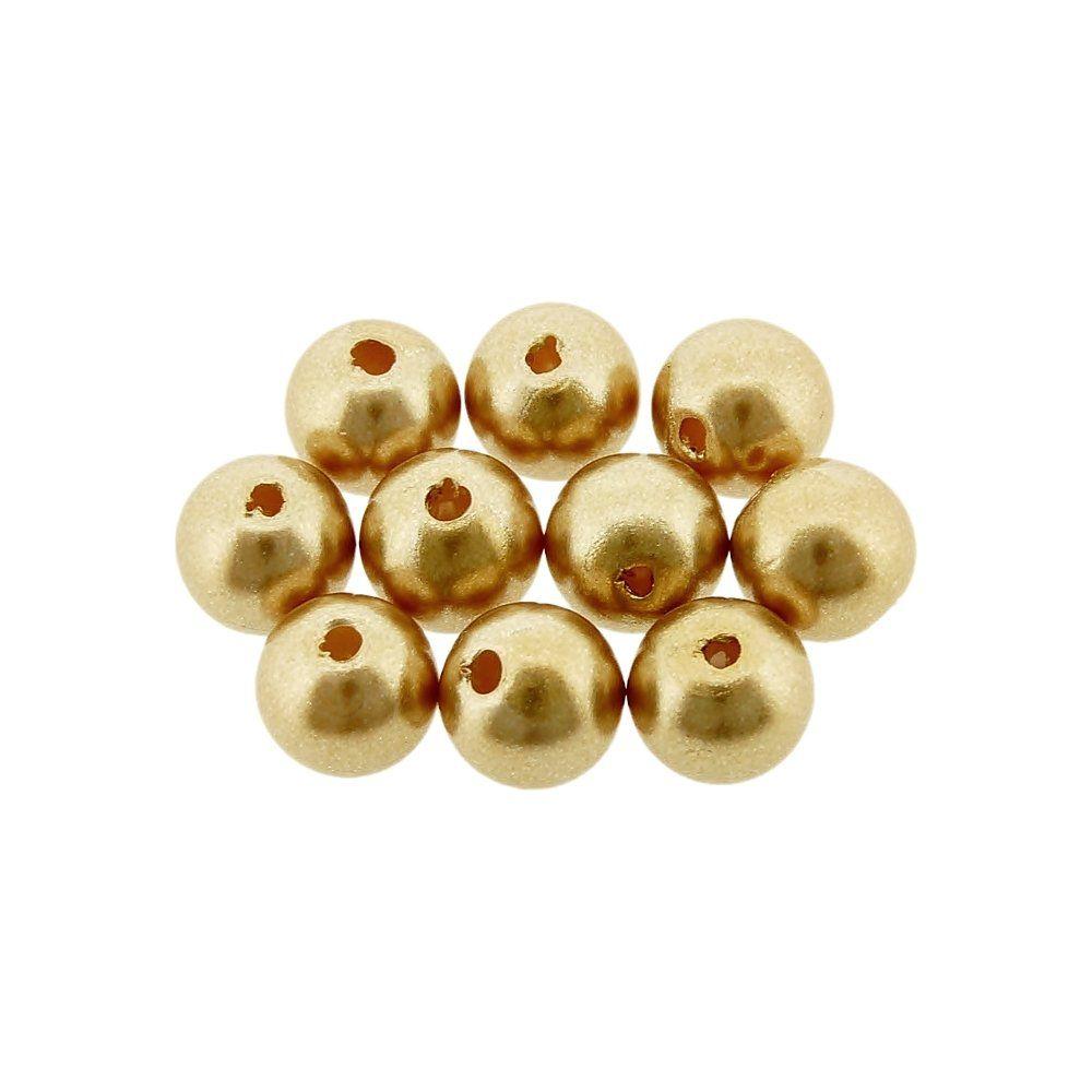 Pérola de ABS - Ouro - 8mm - 25g  - Nathalia Bijoux®