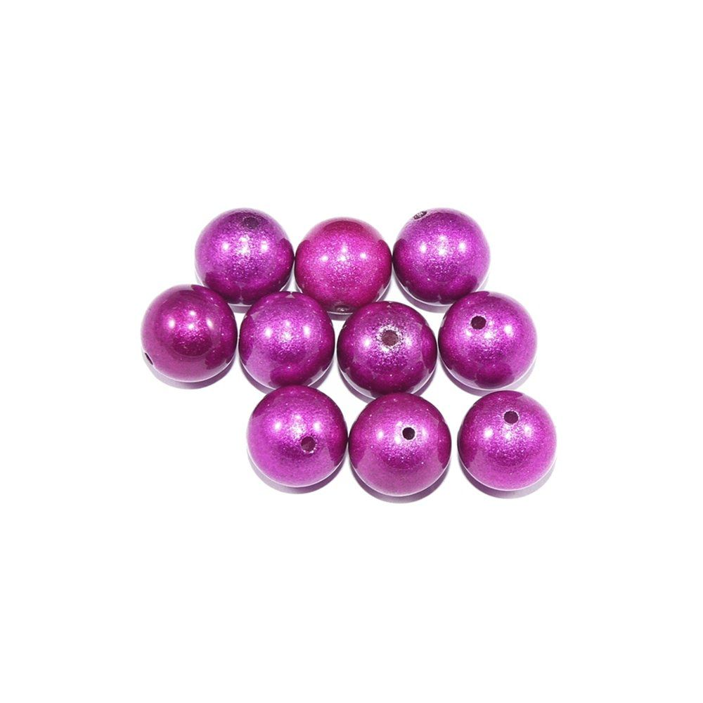 Pérola de Plástico - Pink - 12mm - 30pçs  - Nathalia Bijoux®
