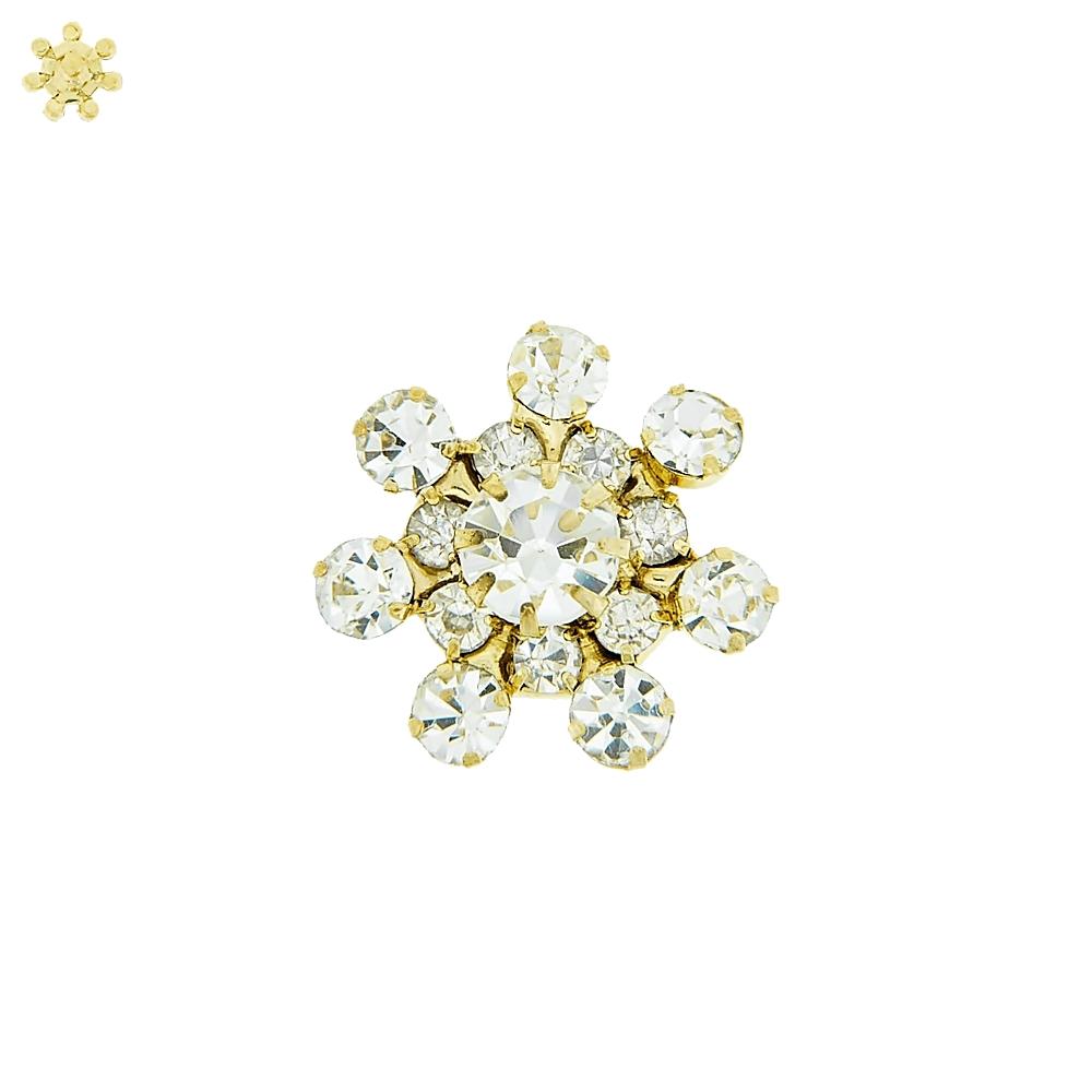 Piercing Flor para Chinelo com Strass - 18mm  - Nathalia Bijoux®