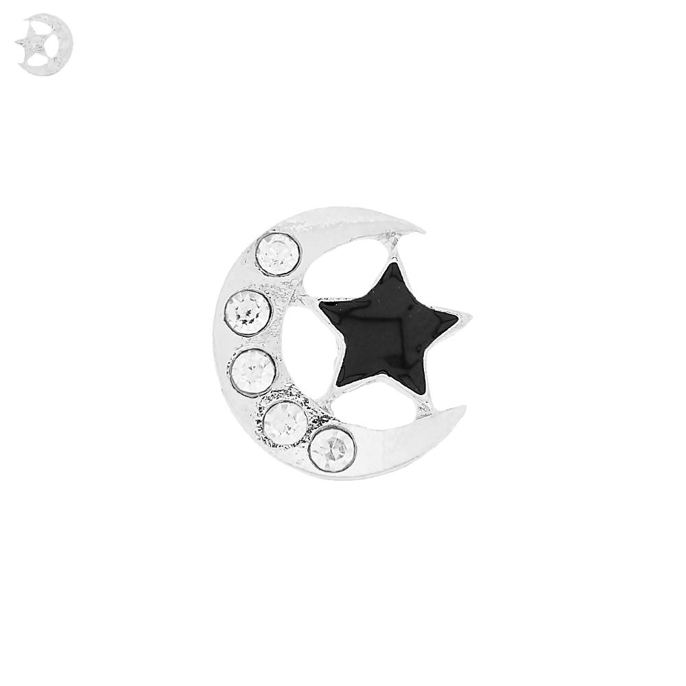 Piercing Lua com Estrela para Chinelo com Strass - 20mm  - Nathalia Bijoux®