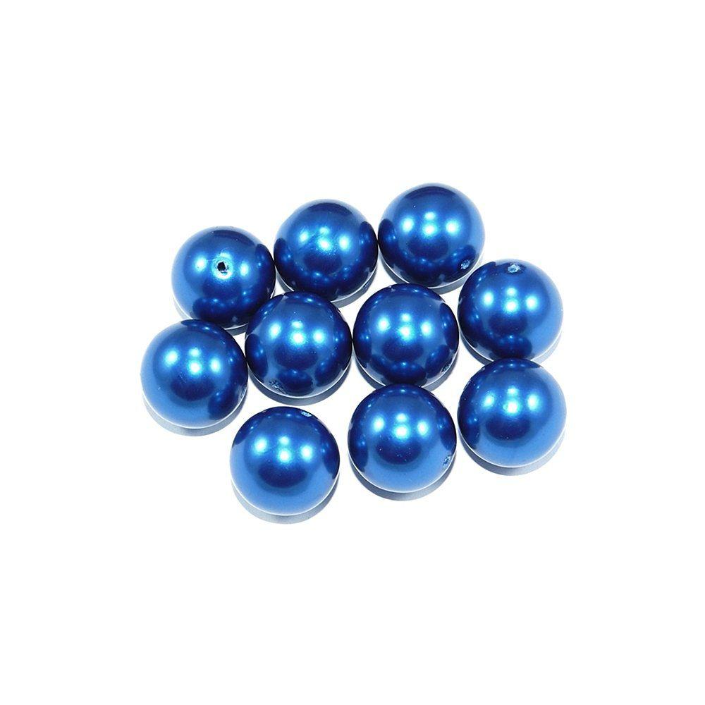 Pérola de Plástico - Azul Royal - 17mm - 25g  - Nathalia Bijoux®