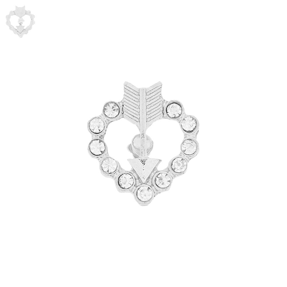 Piercing Coração Flechado para Chinelo com Strass - 19mm  - Nathalia Bijoux®