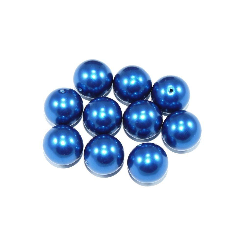 Pérola de Plástico - Azul Royal - 19mm - 25g  - Nathalia Bijoux®