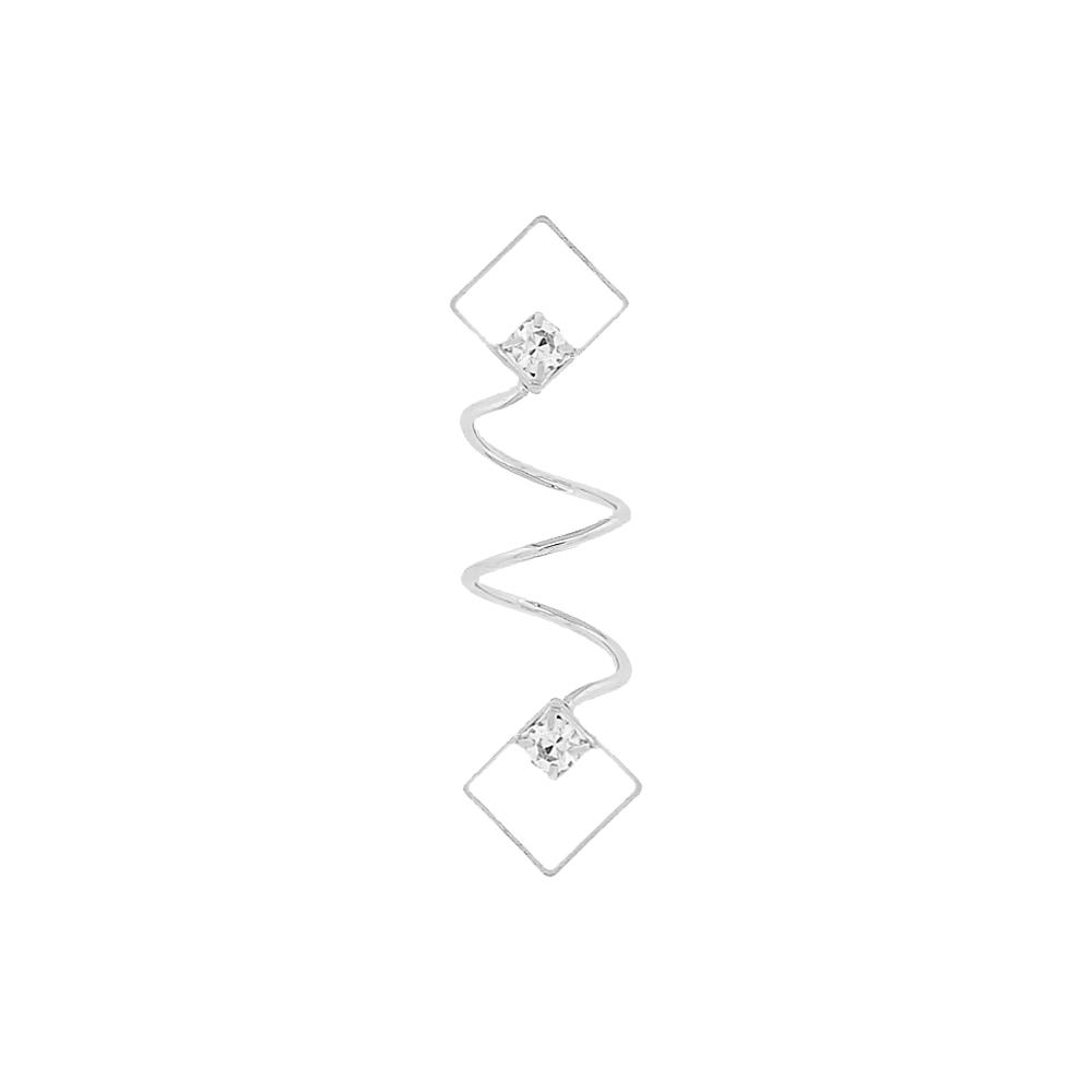 Piercing Espiral Balão para Chinelo com Strass - 43mm  - Nathalia Bijoux®