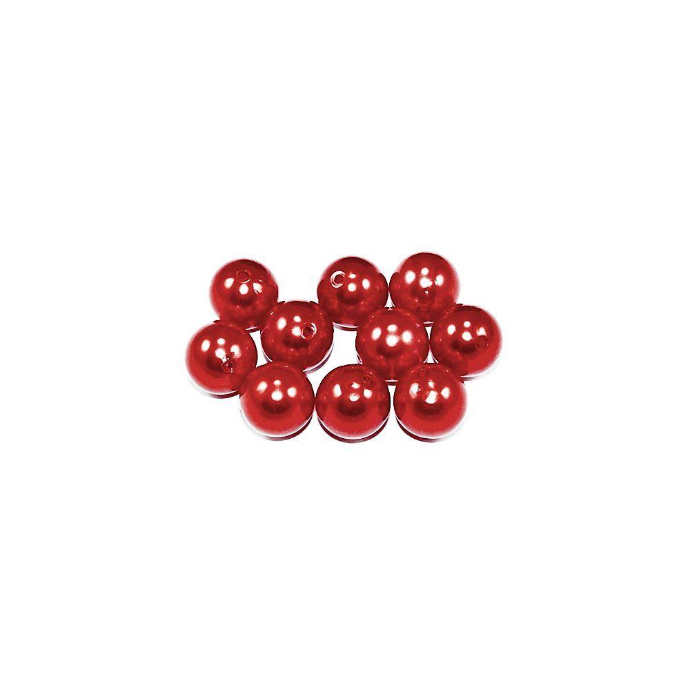 Pérola de Plástico - Vermelho - 4mm - 25g  - Nathalia Bijoux®