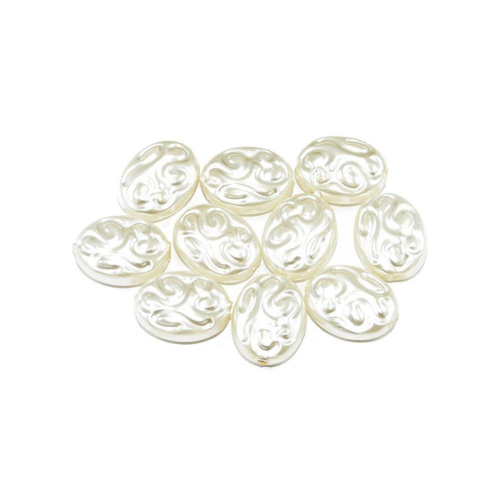 Pérola de Plástico - Dourado Claro - 16mm - 25g  - Nathalia Bijoux®