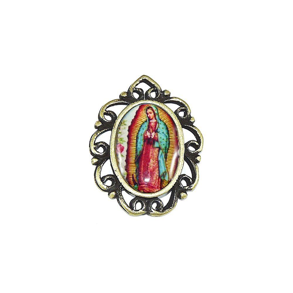 Pingente N. S. de Guadalupe de Metal - 28mm  - Nathalia Bijoux®