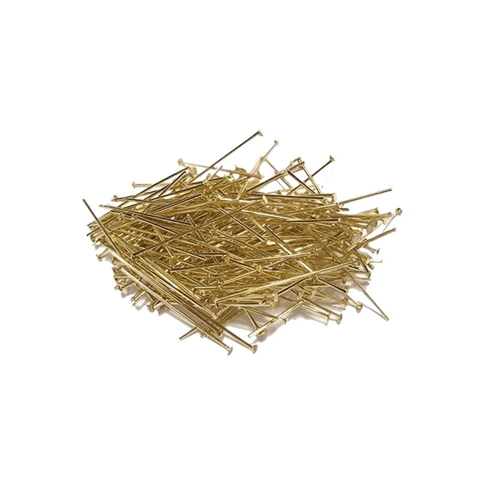 Alfinete com Cabeça Ouro Velho - 20mm - 25g  - Nathalia Bijoux®