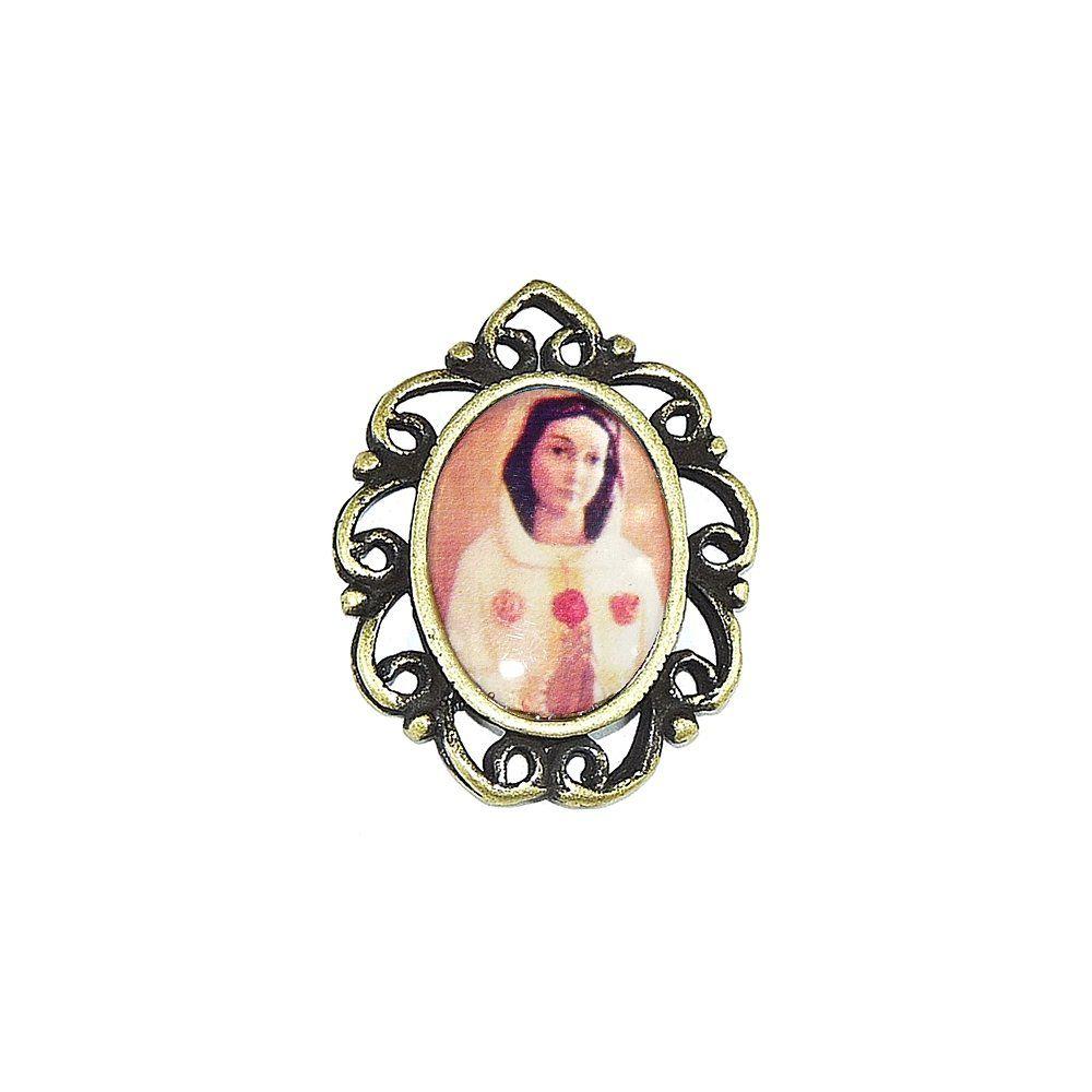 Pingente N. S. da Rosa Mística de Metal - 28mm  - Nathalia Bijoux®