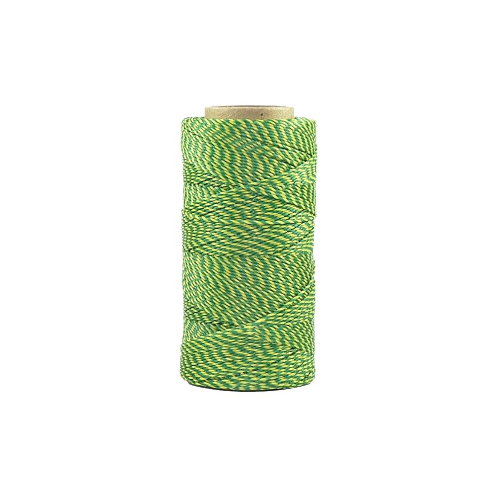 Rolo de Linha Encerada - Amarelo com Verde (001) - 100g  - Nathalia Bijoux®
