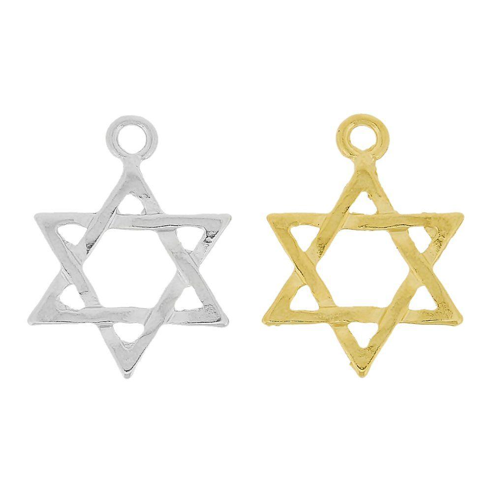 Pingente Estrela de Davi de Metal - 26mm  - Nathalia Bijoux®