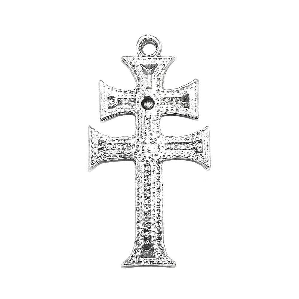 Pingente Cruz de Metal - 46mm  - Nathalia Bijoux®