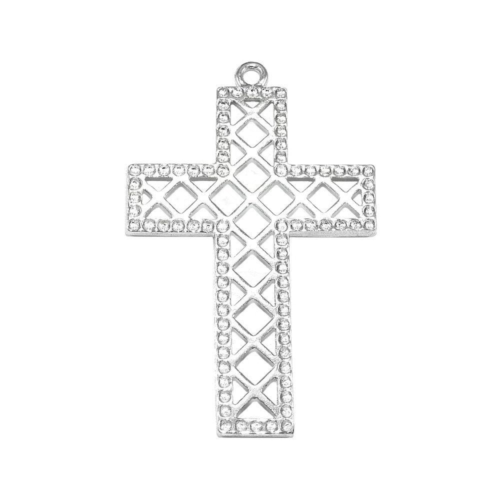 Pingente Cruz de Metal - 57mm  - Nathalia Bijoux®
