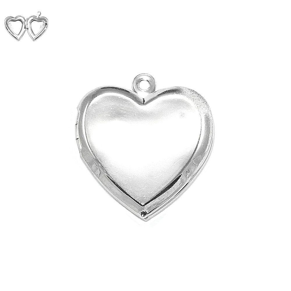 Pingente Relicário Coração de Metal - 22mm  - Nathalia Bijoux®