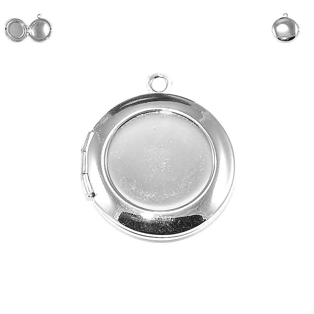 Pingente Relicário de Metal - 24mm  - Nathalia Bijoux®