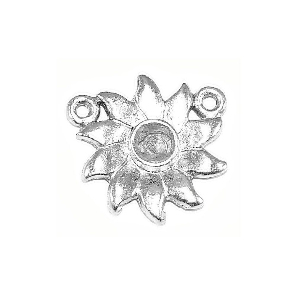 Alongador Flor de Metal 2 Saídas - 17mm  - Nathalia Bijoux®