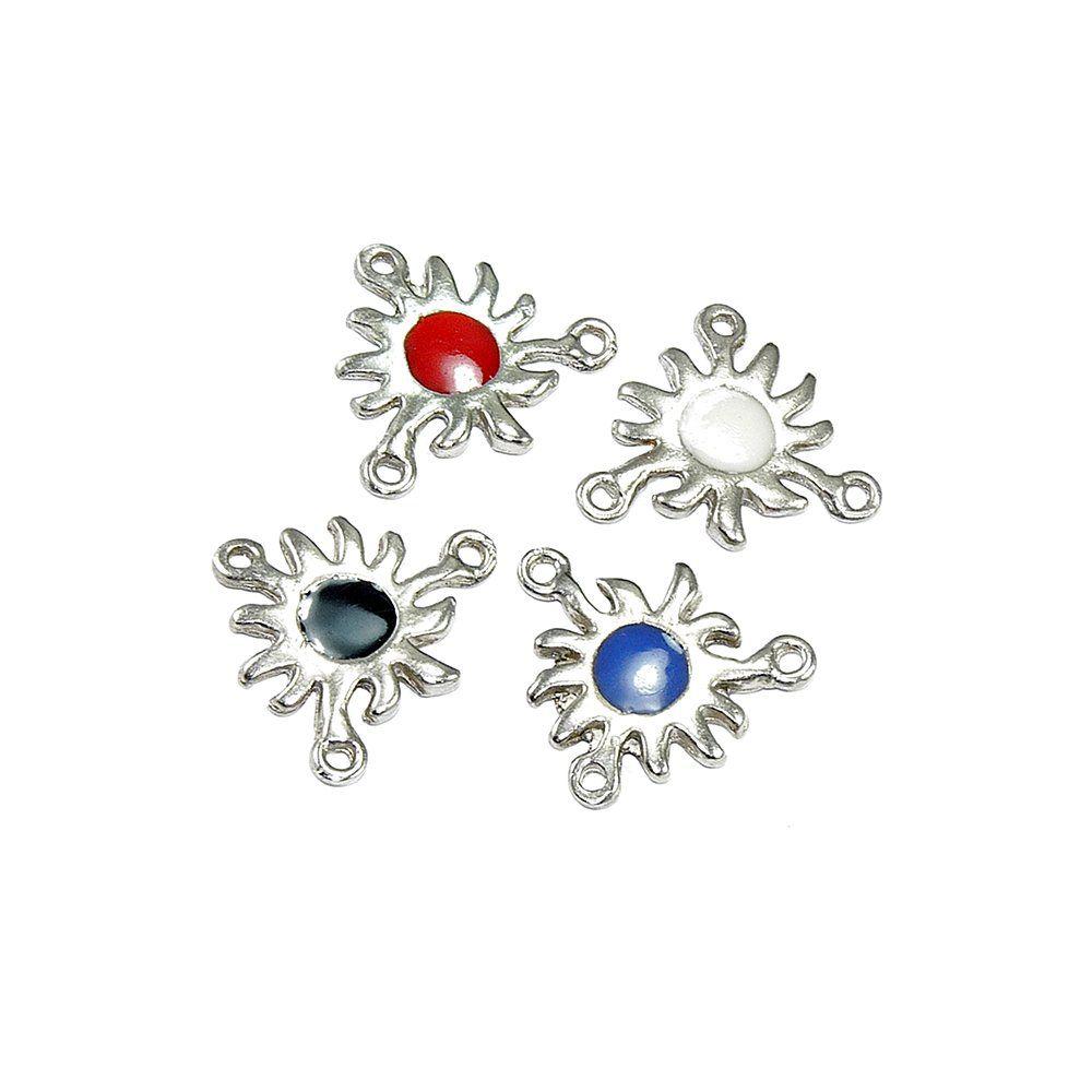 Alongador Flor de Metal 3 Saídas - 25mm - 10pçs  - Nathalia Bijoux®